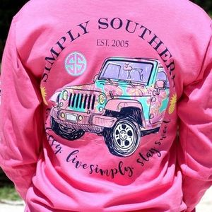 """NWT Simply Southern """"Be Classy"""" Jeep Top, S"""